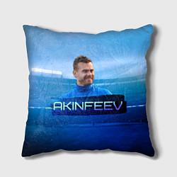 Подушка квадратная Akinfeev цвета 3D — фото 1