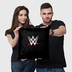 Подушка квадратная WWE цвета 3D — фото 2