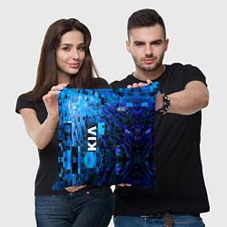 Подушка квадратная KIA цвета 3D-принт — фото 2