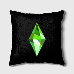 Подушка квадратная The Sims Plumbob цвета 3D — фото 1