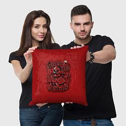 Подушка квадратная Тортуга цвета 3D — фото 2