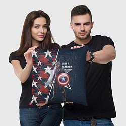 Подушка квадратная Marvel Капитан Америка цвета 3D-принт — фото 2