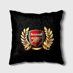 Подушка квадратная Arsenal цвета 3D-принт — фото 1