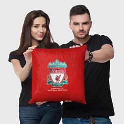 Подушка квадратная Liverpool цвета 3D-принт — фото 2