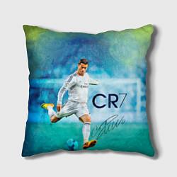 Подушка квадратная CR Ronaldo цвета 3D — фото 1