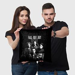 Подушка квадратная Fall out boy band цвета 3D-принт — фото 2