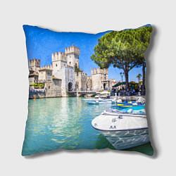 Подушка квадратная Италия цвета 3D — фото 1