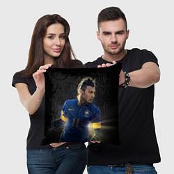 Подушка квадратная Neymar: Brasil Team цвета 3D-принт — фото 2