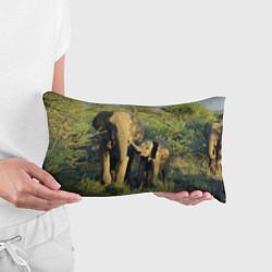 Подушка-антистресс Семья слонов в природе цвета 3D — фото 2