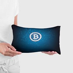 Подушка-антистресс Bitcoin Blue цвета 3D-принт — фото 2