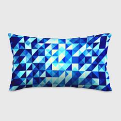Подушка-антистресс Синяя геометрия