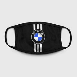 Маска для лица BMW: White Strips цвета 3D-принт — фото 2