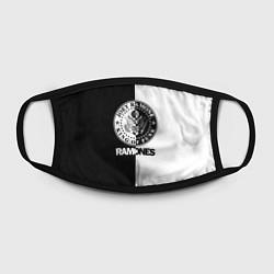 Маска для лица Ramones B&W цвета 3D-принт — фото 2