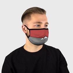 Маска для лица Горы Твин Пикс цвета 3D-принт — фото 1