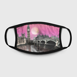 Маска для лица Закат в Великобритании цвета 3D-принт — фото 2