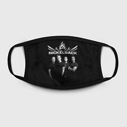 Маска для лица Nickelback Band цвета 3D — фото 2