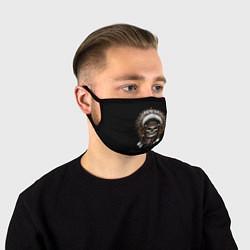 Лицевая защитная маска с принтом Череп с роучем, цвет: 3D, артикул: 10180366705881 — фото 1