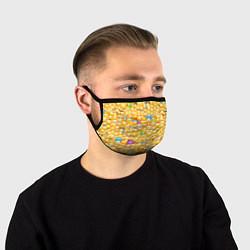 Маска для лица Смайлики Emoji цвета 3D-принт — фото 1