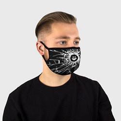 Маска для лица BLACK MIRROR цвета 3D-принт — фото 1