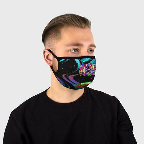 Маска для лица ВСЕ ПЕРСОНАЖИ БРАВЛ СТАРС / 3D – фото 1