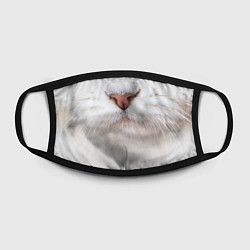 Маска для лица Белый котик цвета 3D — фото 2