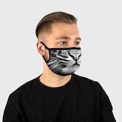 Маска для лица Красавец тигр цвета 3D-принт — фото 1