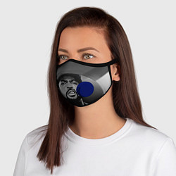 Маска с клапаном Ice Cube: Gangsta цвета 3D-синий — фото 1