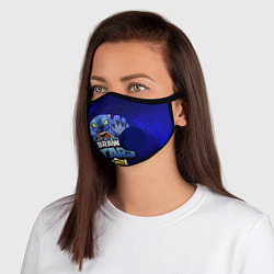 Неопреновая маска с клапаном с принтом БРАВЛ СТАРС ЛЕОН, цвет: 3D-синий, артикул: 10232045105999 — фото 1