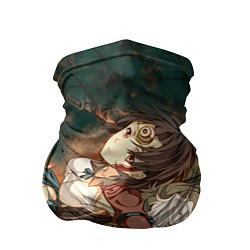 Бандана-труба Воин крепости цвета 3D — фото 1