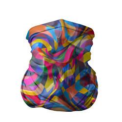 Бандана-труба Абстракционизм цвета 3D — фото 1