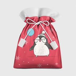 Мешок для подарков Влюбленная пингвинка цвета 3D-принт — фото 1