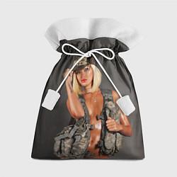 Подарочный мешок Девушка в форме