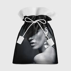 Мешок для подарков Девушка в шляпе цвета 3D — фото 1