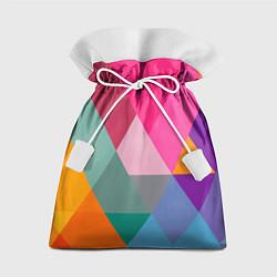 Мешок для подарков Разноцветные полигоны цвета 3D — фото 1