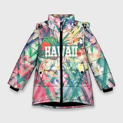 Куртка зимняя для девочки Hawaii Summer цвета 3D-черный — фото 1