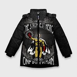 Куртка зимняя для девочки The Strongest Hero цвета 3D-черный — фото 1