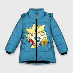 Куртка зимняя для девочки Тогепи цвета 3D-черный — фото 1