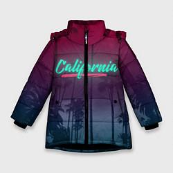 Куртка зимняя для девочки California цвета 3D-черный — фото 1