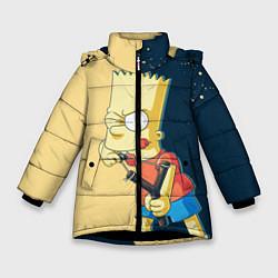 Куртка зимняя для девочки Барт хулиган цвета 3D-черный — фото 1