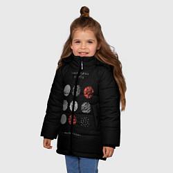 Куртка зимняя для девочки Twenty one pilots: Blurrveace цвета 3D-черный — фото 2