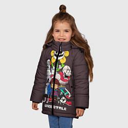 Куртка зимняя для девочки Undertale 3 цвета 3D-черный — фото 2