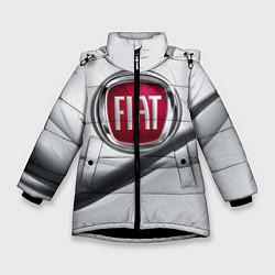 Детская зимняя куртка для девочки с принтом FIAT, цвет: 3D-черный, артикул: 10106631206065 — фото 1