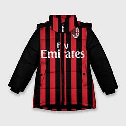 Куртка зимняя для девочки Milan FC: Fly Emirates цвета 3D-черный — фото 1