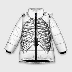 Куртка зимняя для девочки Ребра цвета 3D-черный — фото 1