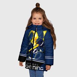 Куртка зимняя для девочки Bay Lightning цвета 3D-черный — фото 2