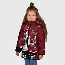 Куртка зимняя для девочки Arizona Coyotes цвета 3D-черный — фото 2