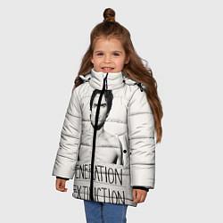 Куртка зимняя для девочки Generation Extinction цвета 3D-черный — фото 2