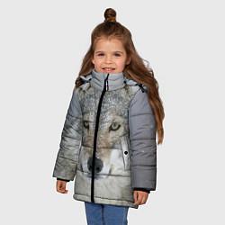 Куртка зимняя для девочки Милый волк цвета 3D-черный — фото 2