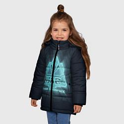 Куртка зимняя для девочки Union Aerospace corporation цвета 3D-черный — фото 2