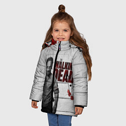 Куртка зимняя для девочки Ходячий Рик Граймс цвета 3D-черный — фото 2